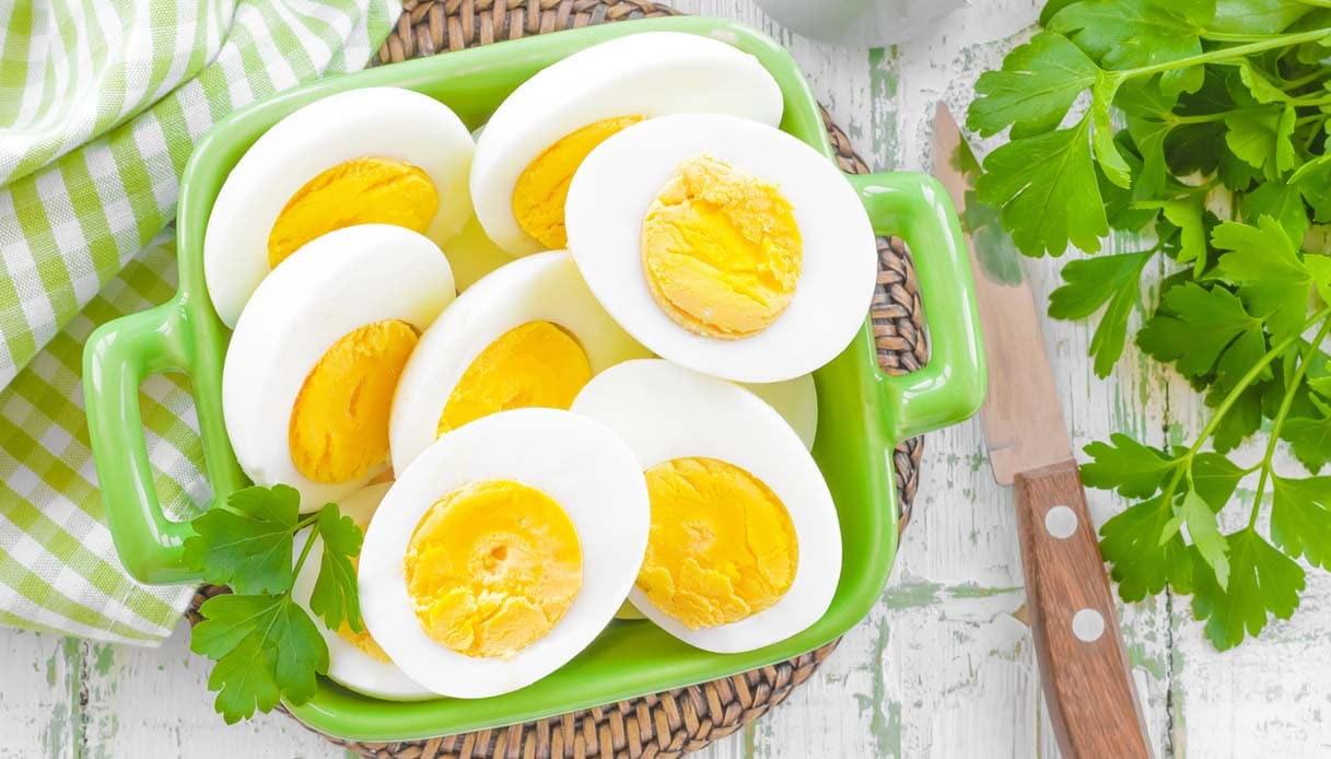 Uova sode a colazione per dimagrire